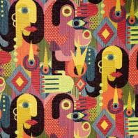 Jacquard motifs géométriques et couleur fluo