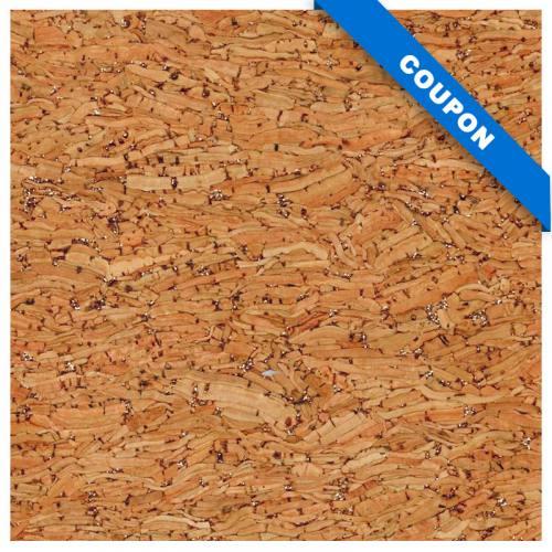 Coupon 70x50cm - Tissu de liège paillette