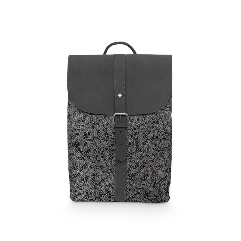 Coupon 50x68cm - Simili cuir argent effet miroir