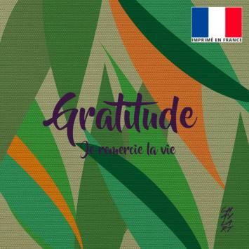 Coupon 45x45 cm toile canvas Gratitude - Création Chaylart