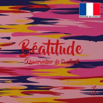 Coupon 45x45 cm toile canvas Béatitude - Création Chaylart