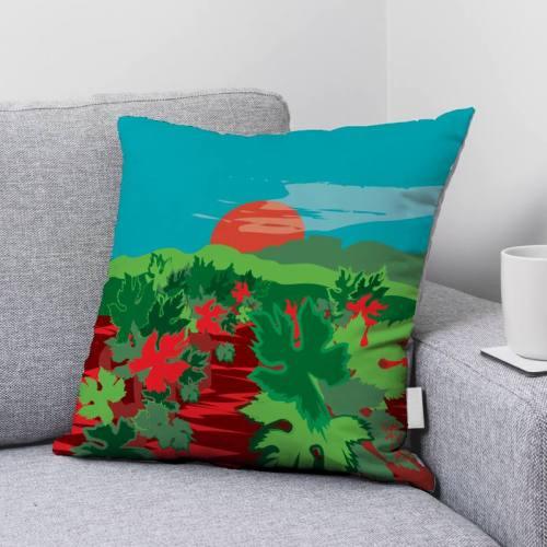 Coupon 45x45 cm toile canvas Vignes au Soleil - Création Chaylart