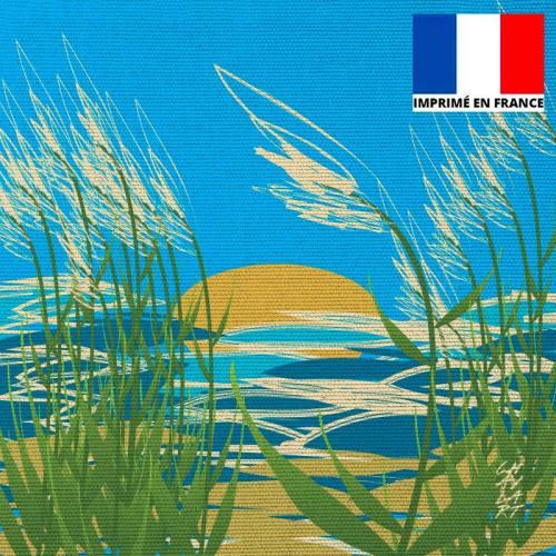 Coupon 45x45 cm motif Plage du Rayolet - Création Chaylart