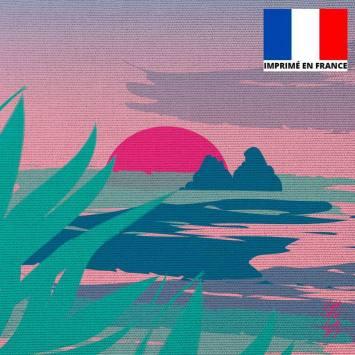 Coupon 45x45 cm motif Les 2 Rochers - Création Chaylart