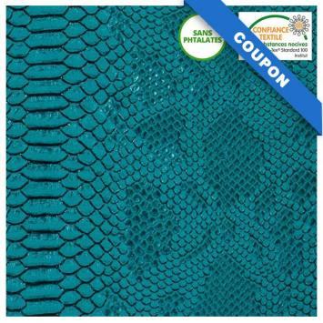 Coupon 50x68cm - Simili cuir Dragon turquoise