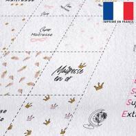 Coupon éponge pour lingettes démaquillantes motif maîtresse rose gold