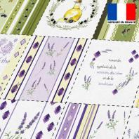 Coupon éponge pour lingettes démaquillantes motif provençal