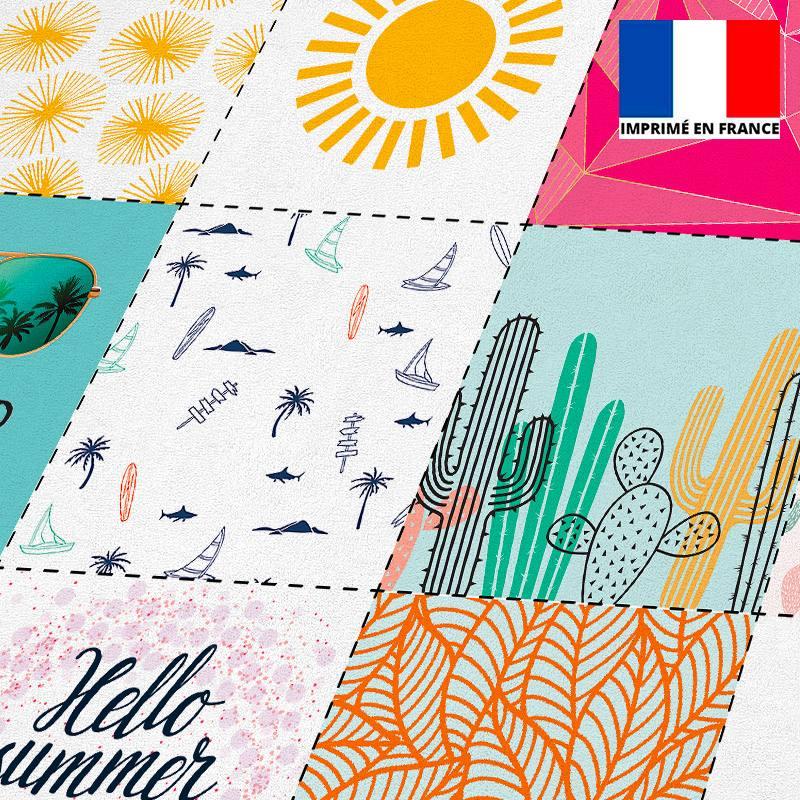 Coupon éponge pour lingettes démaquillantes motif hello summer