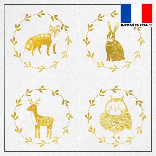 Coupon éponge pour lingettes démaquillantes motif animaux gold