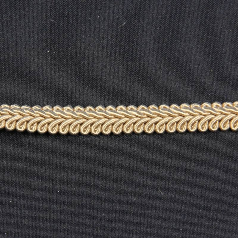 Ruban tressé brun 10 mm