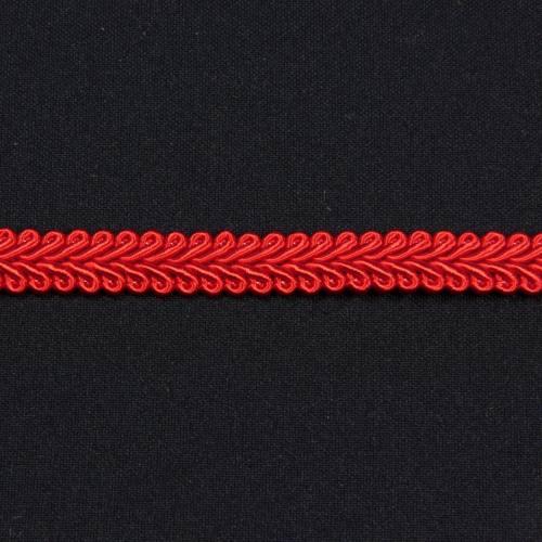Ruban tressé rouge 10 mm