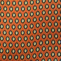 Tissu viscose terracota motif empreinte de fleur