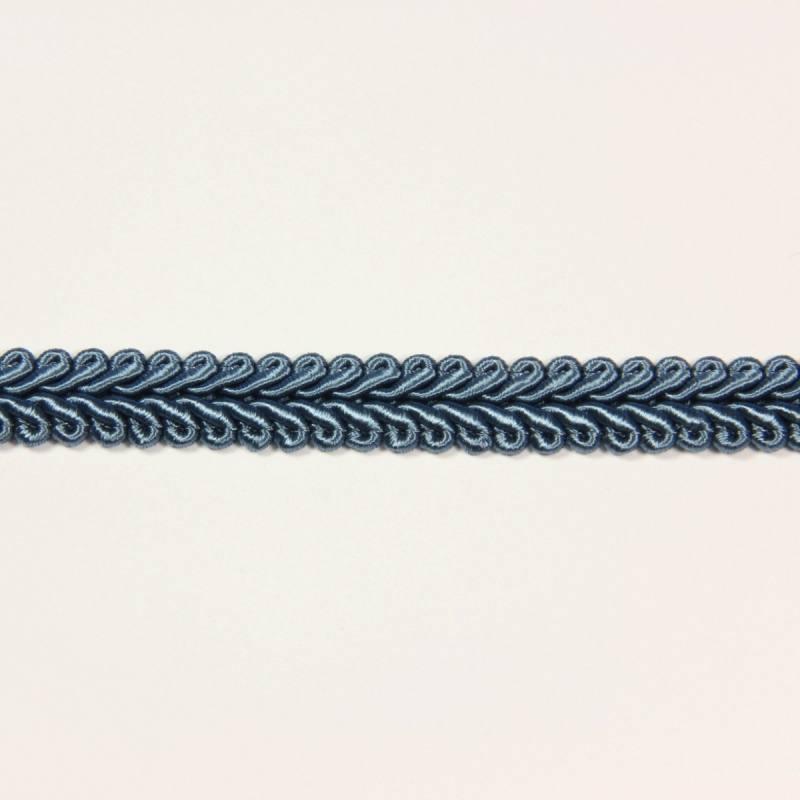 Ruban tressé bleu acier 10 mm