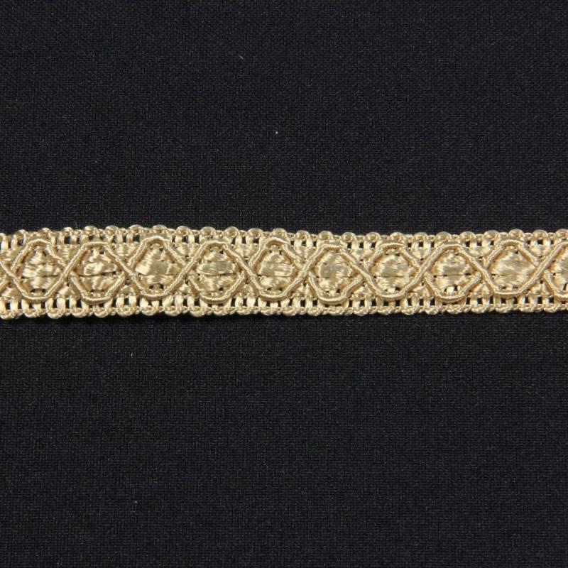 Ruban 12 mm beige à motifs