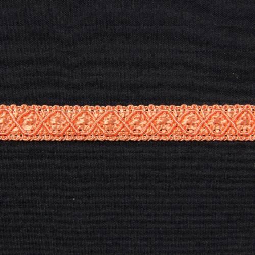 Ruban 12 mm saumon à motifs