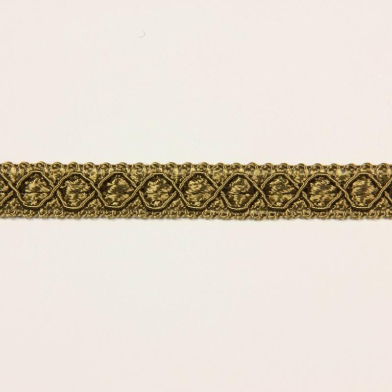 Ruban 12 mm kaki à motifs