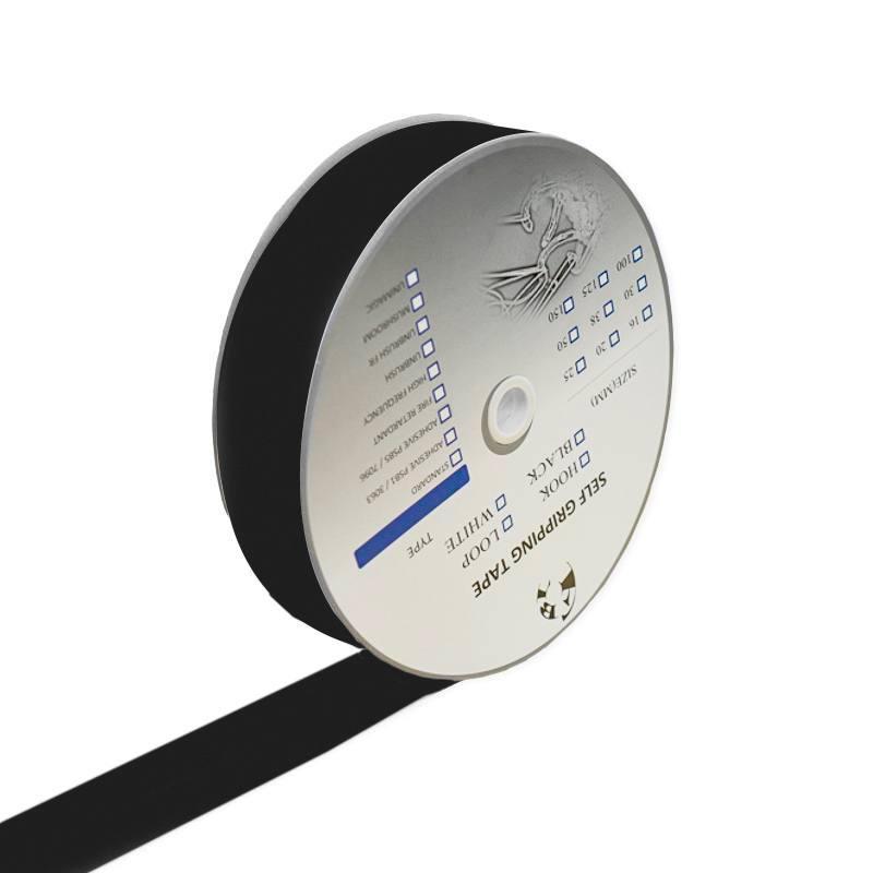 Rouleau 25m Auto-agrippant adhésif crochet 30 mm noir