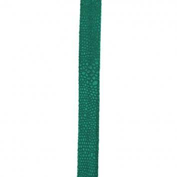 Biais replié velours python vert 20 mm
