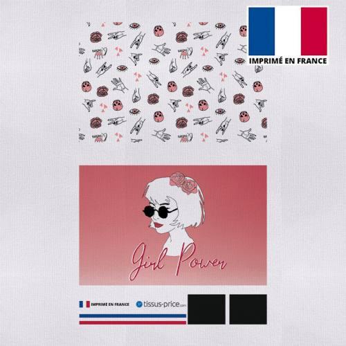 Kit pochette canvas motif girl power
