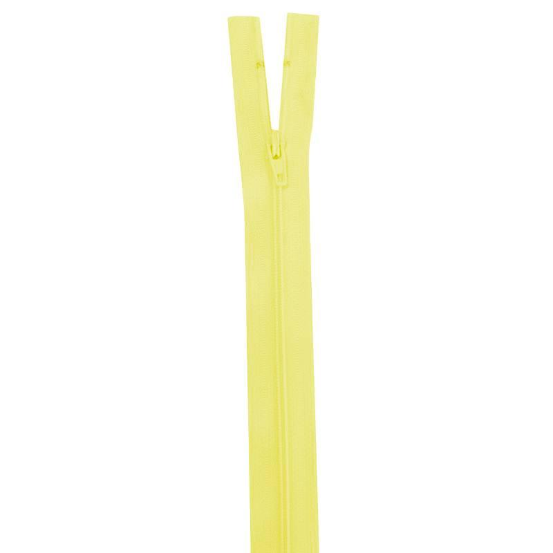 Fermeture jaune pastel 25 cm non séparable col 503