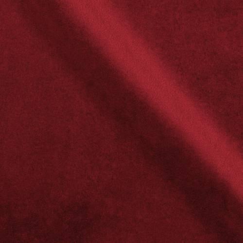 Velours d'ameublement uni rouge bourgogne