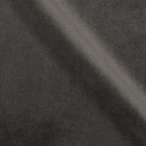 Velours d'ameublement uni gris foncé