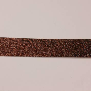 Biais replié lurex chocolat