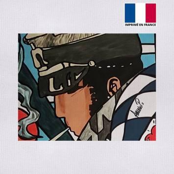 Coupon 27x21 cm - Toile canvas aventurier - Création Anne-Sophie Dozoul