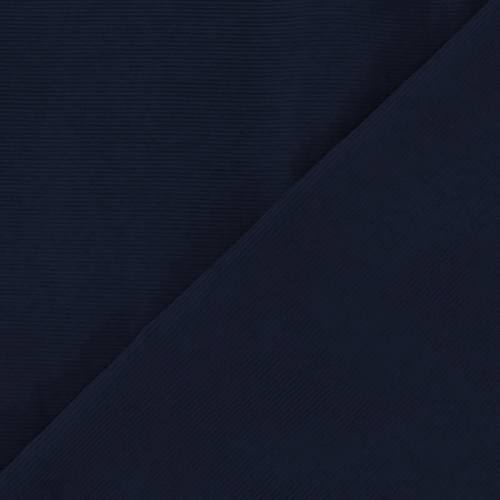 Tissu velours milleraies bleu marine