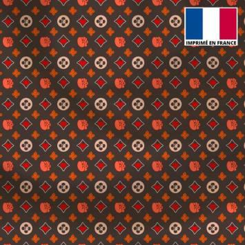 Satin gris motif petit monogramme coeur Le Loulou de Solliès-Pont - Anne-Sophie Dozoul