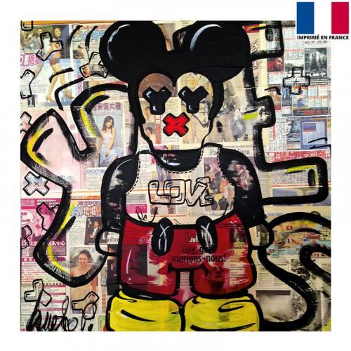 Coupon 45x45 cm - Love - Création Anne-Sophie Dozoul