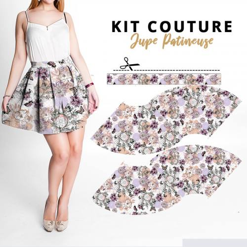 Kit Jupe Patineuse Courte - Collection Automne 2020 - Microfibre