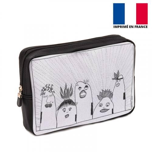 Coupon 30x20 cm - Toile canvas motif Tribu - Création Jeanne Garreau