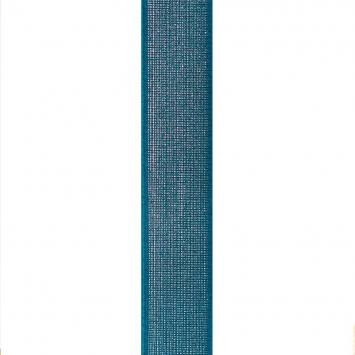 Elastique ceinture métal argenté 40 mm bleu canard
