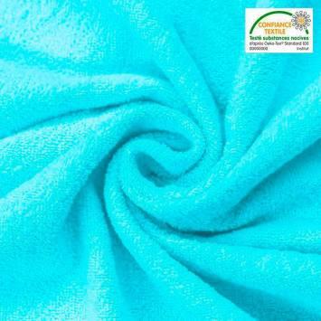 Tissu éponge turquoise