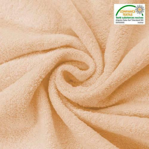 Tissu éponge beige clair