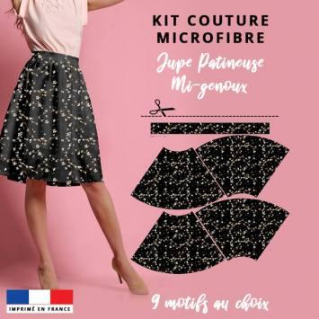 Kit Jupe Patineuse Mi-Genoux - Collection L'intemporelle - Microfibre