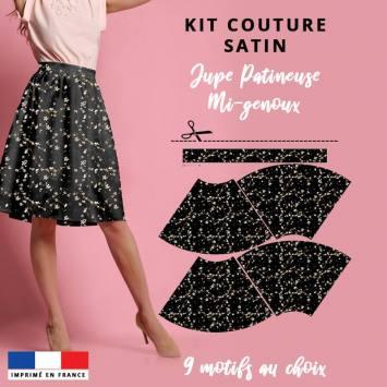 Kit Jupe Patineuse Mi-Genoux - Collection L'intemporelle - Satin
