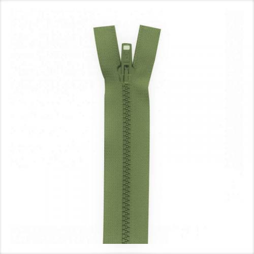 Fermeture injectée vert militaire 40 cm séparable col 999