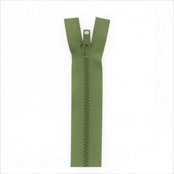 Fermeture injectée vert militaire 80 cm séparable col 999