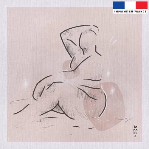 Coupon 45x45 cm motif Gaïa - Création by Tonckka