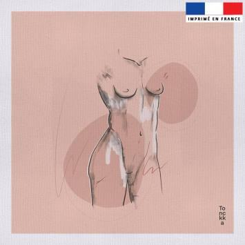 Coupon 45x45 cm toile canvas motif Sarah - Création by Tonckka