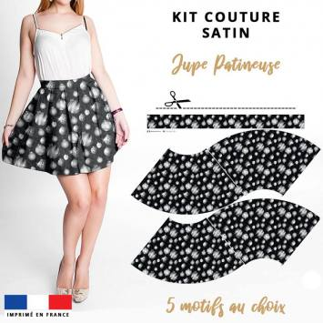 Kit Jupe Patineuse Courte - Collection Noël - Satin