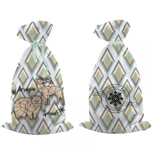 Kit hotte de Noel motif scandinave renne et ours