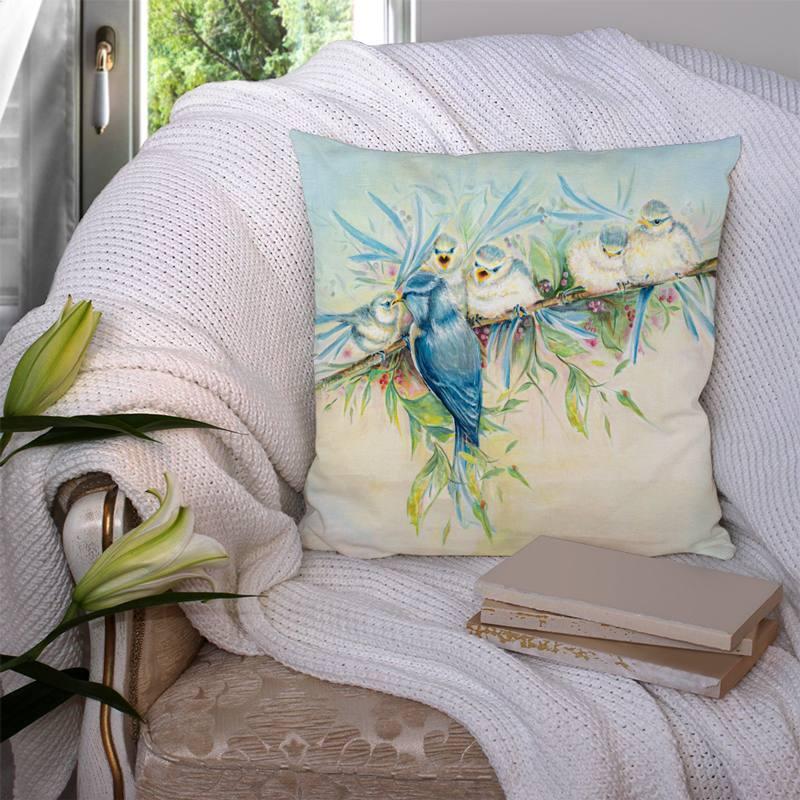 Coupon 45x45 cm motif oiseaux - Création Véronique Baccino
