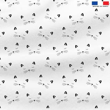 Polaire blanche motif chat
