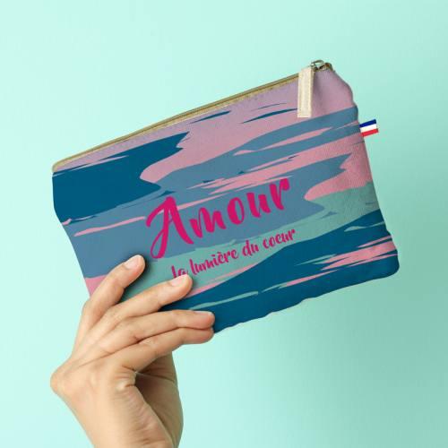 Kit pochette motif Amour - Création Chaylart
