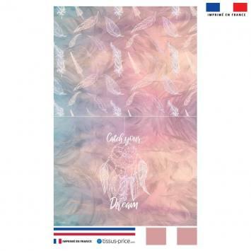 Kit pochette rose motif catch your dream