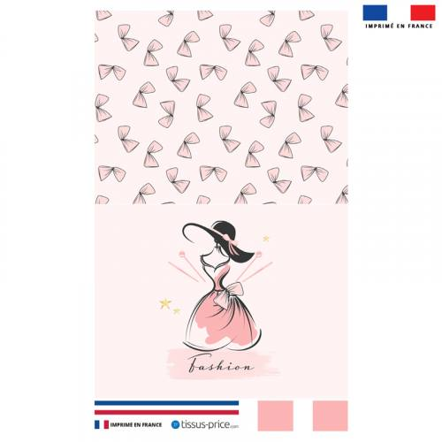 Kit pochette rose motif fashion