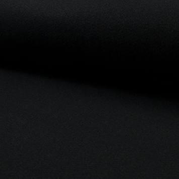 Tissu caban épais façon lainage noir
